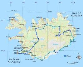 Islandia en Bicicleta Mapa
