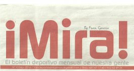Entrevista para el Boletín deportivo El Pregonero