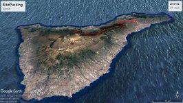 Rutas de Bikepacking Tenerife, Primer trazado 86km