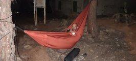 Durmiendo en hamacas
